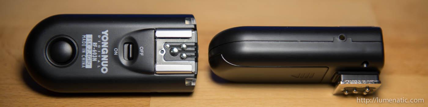 Yongnuo RF603 wireless flash trigger delay