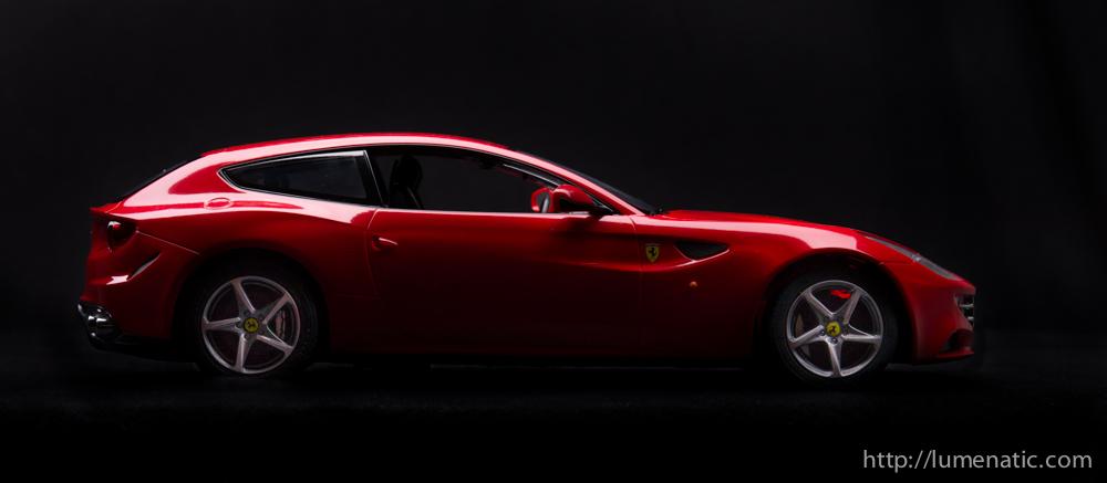 Shooting a Ferrari FF in the studio
