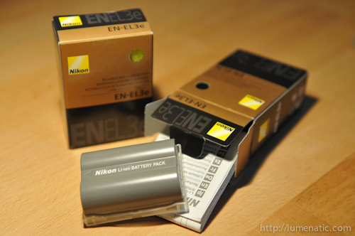 New batteries for the D300s