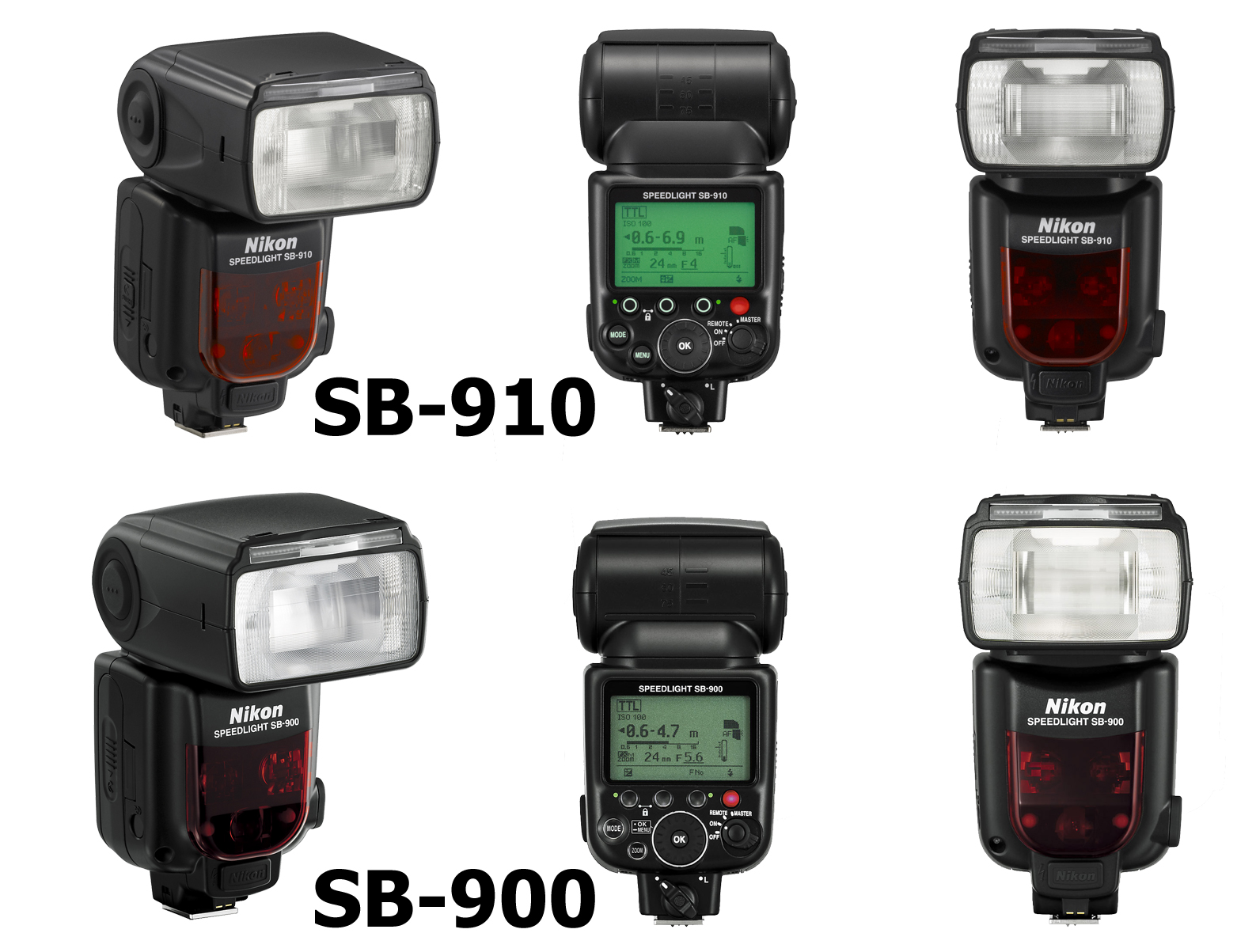Nikon SB-910 and SB-900 side-by-side