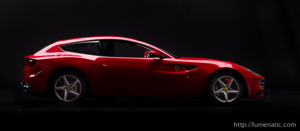 Shooting a Ferrari FF in the studio