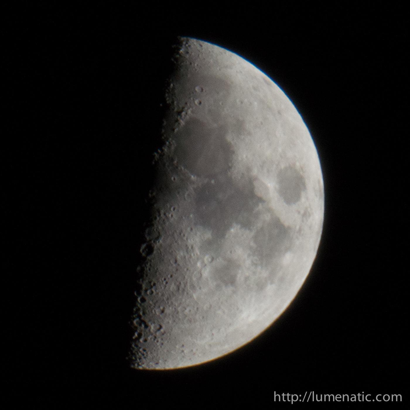 Half moon at 800 mm