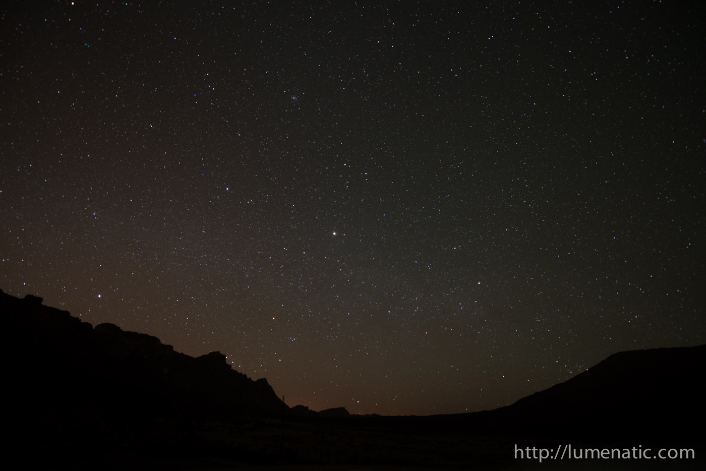 Nighttime photography – alone in the crater