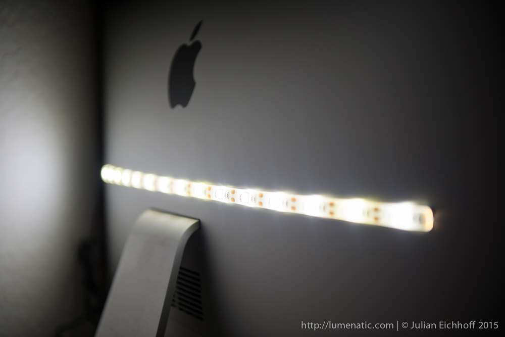 Low-cost LED background light for your computer