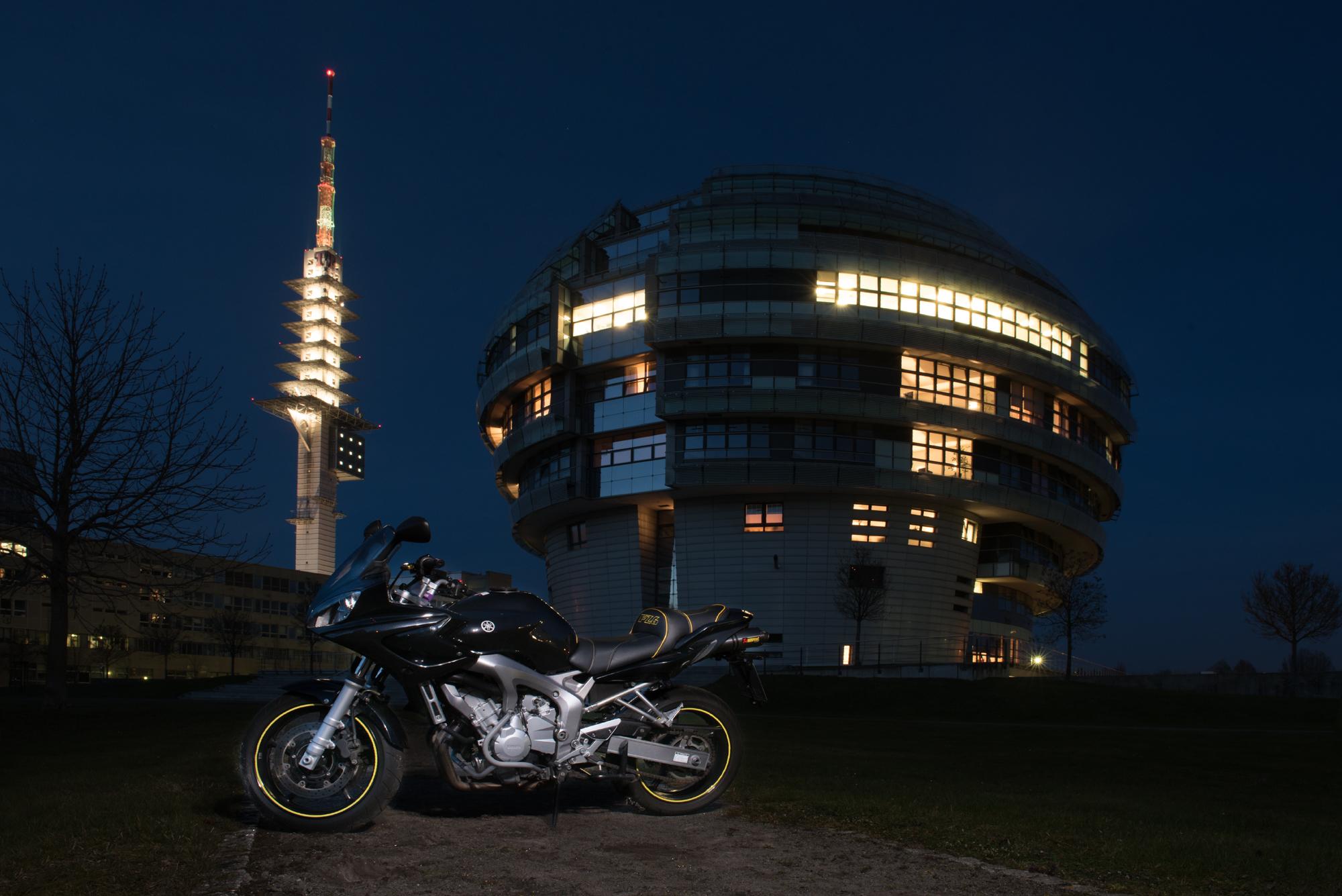 A magic hour photoshoot with my bike