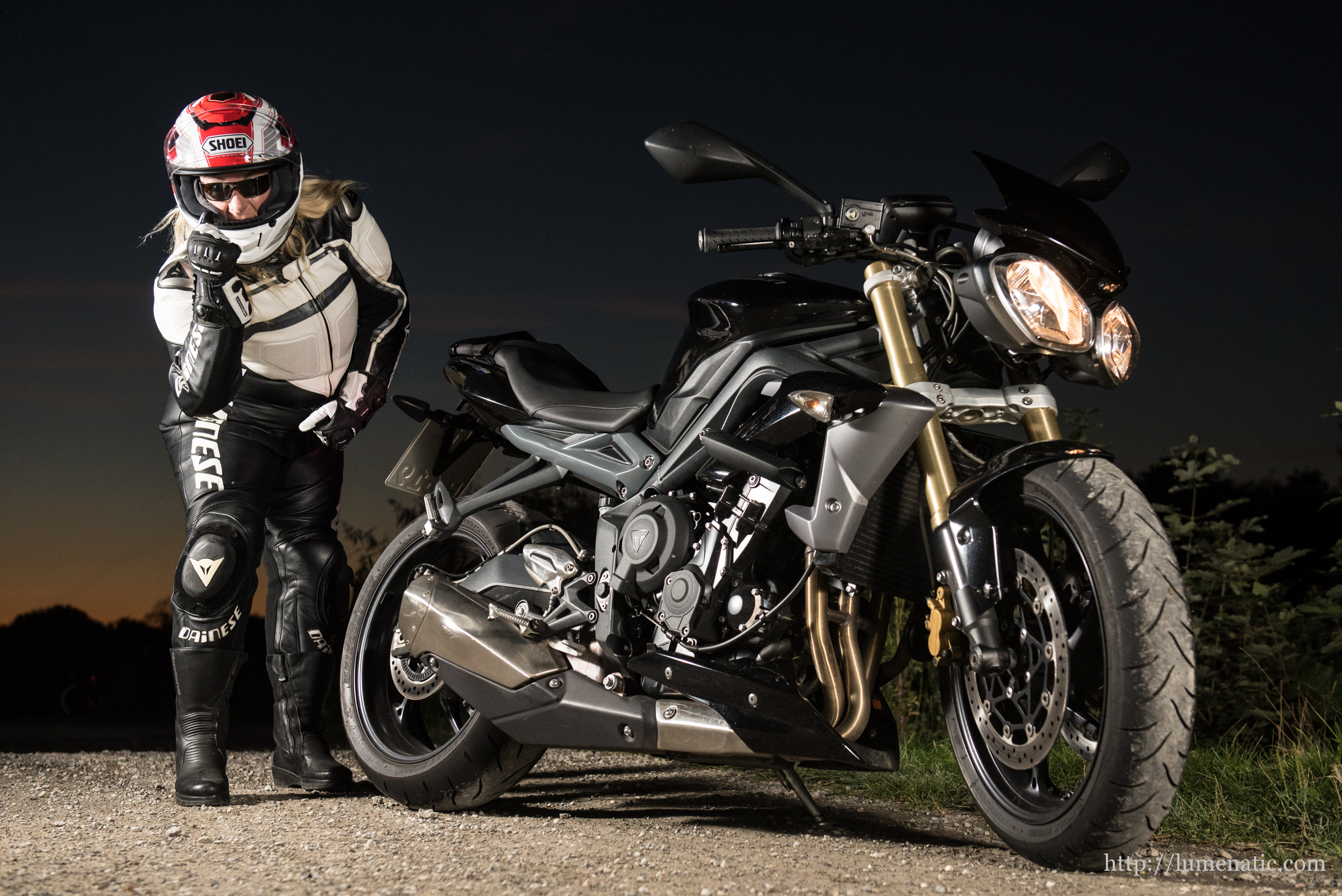 Ladypower and the Triumph Street Triple
